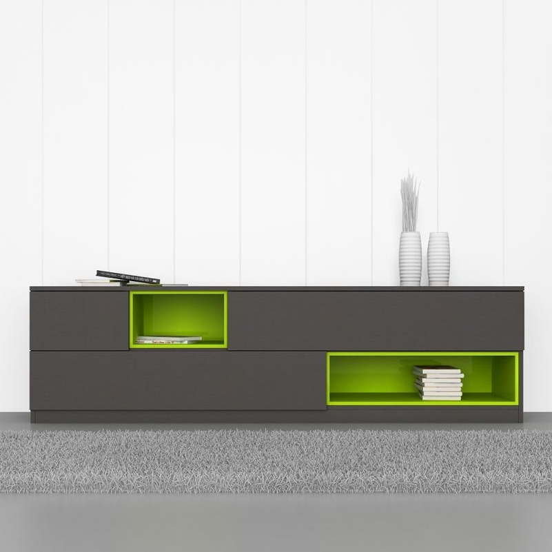 Fantastic Trendy Green TV Stands In Green Entertainment Cabinet (Image 21 of 50)