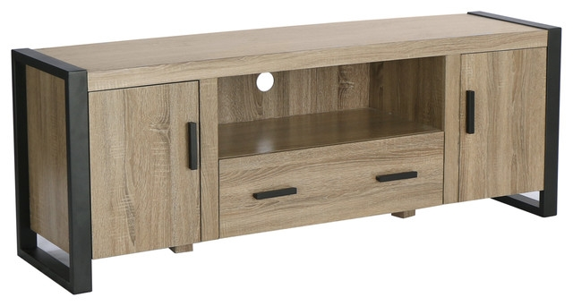 Fantastic Trendy Grey Wood TV Stands For 60 Ash Grey Wood Tv Stand Console Industrial Entertainment (Image 24 of 50)