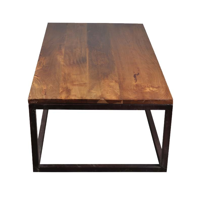Fantastic Trendy Long Coffee Tables Inside Iron Mango Wood 52 Long Industrial Coffee Table (Image 16 of 50)