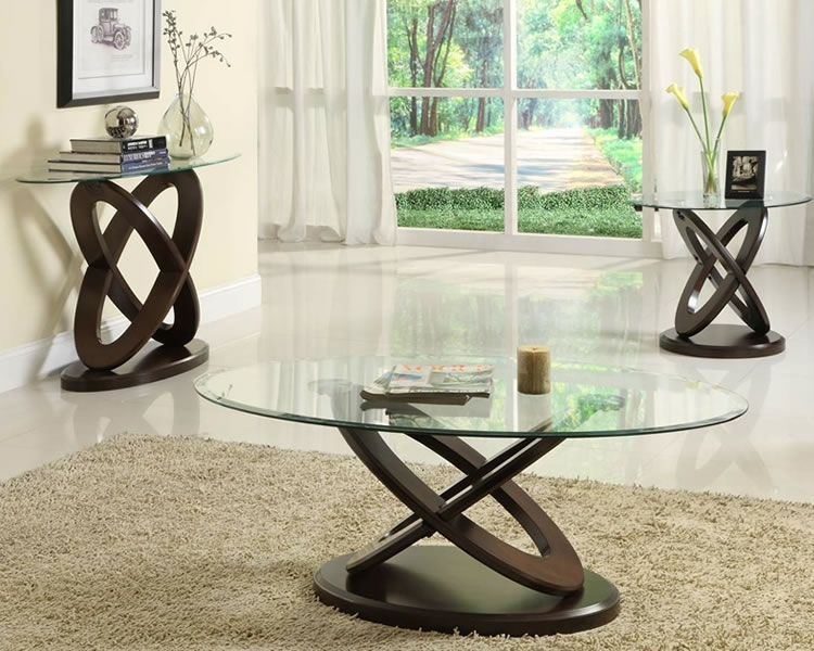 Fantastic Trendy Oval Glass And Wood Coffee Tables Pertaining To Very Chic And Charming Oval Glass Coffee Table The Home Redesign (Image 19 of 50)