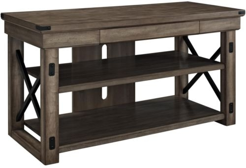 Fantastic Trendy Reclaimed Wood And Metal TV Stands Within Rustic Metal Framed Tv Stand Console Table Accent Media Storage (Image 22 of 50)