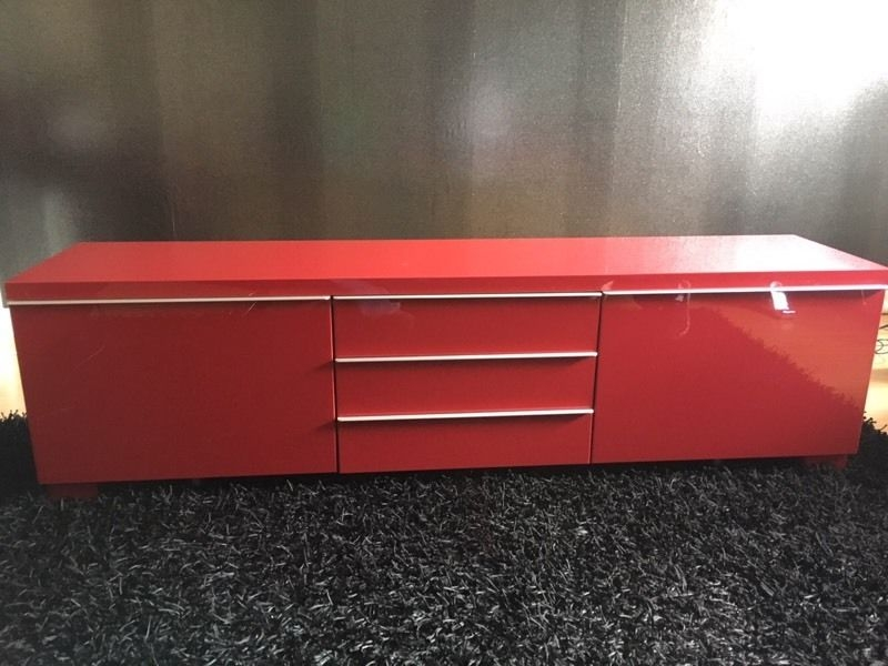 Fantastic Trendy Red Gloss TV Stands With Red Ikea High Gloss Tv Stand In East Kilbride Glasgow Gumtree (View 7 of 50)