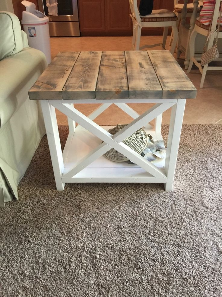 Fantastic Trendy Rustic Coffee Tables With Bottom Shelf Intended For Best 25 Diy End Tables Ideas On Pinterest Pallet End Tables (View 29 of 50)