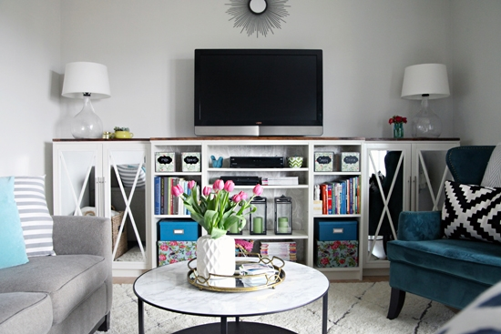Fantastic Trendy TV Stands With Bookcases With Regard To 13 Diy Plans For Building A Tv Stand Guide Patterns (Image 18 of 50)