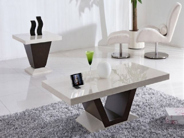 Fantastic Trendy White Marble Coffee Tables Throughout Coffee Table Wonderful Square Marble Coffee Table Set Square (Image 19 of 50)