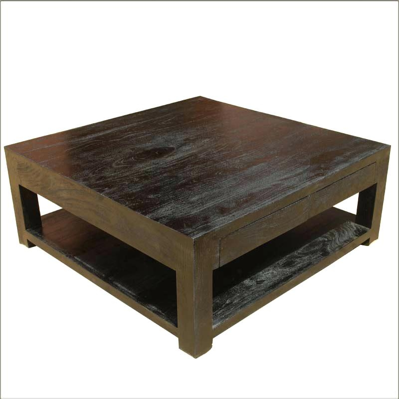 Fantastic Unique Big Black Coffee Tables Regarding Black Magic Ash Black Glass Coffee Table With Storage Large Round (Image 18 of 50)