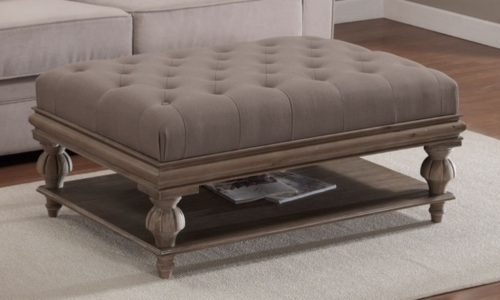 Fantastic Unique Brown Leather Ottoman Coffee Tables Within Lovable Ottoman Coffee Table Round (View 36 of 50)
