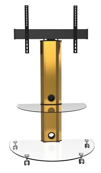 Fantastic Unique Corner TV Stands With Bracket Throughout Gold Cantilever Tv Stands With Shelves And Swivel (Image 17 of 50)