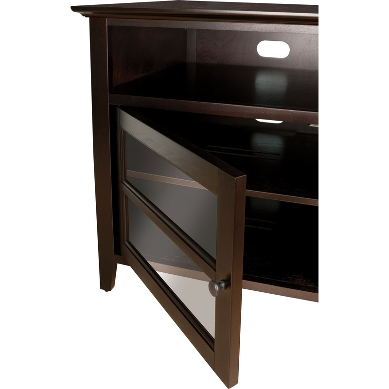 Fantastic Unique Expresso TV Stands For Classic Flame Wavs99163 Bell O 63 Flat Panel Tv Stand In Dark (View 49 of 50)