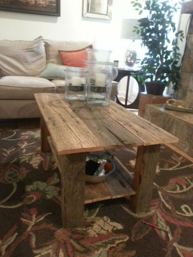 Fantastic Unique Rustic Barnwood Coffee Tables Regarding 1053 Best Reclaimed Wood Images On Pinterest Wood Home And (View 35 of 50)