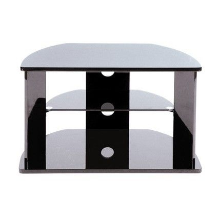 Fantastic Unique Smoked Glass TV Stands Within High Gloss Black Tv Stand Upto 32 Levv An Excellent Cheap Tv (View 15 of 50)