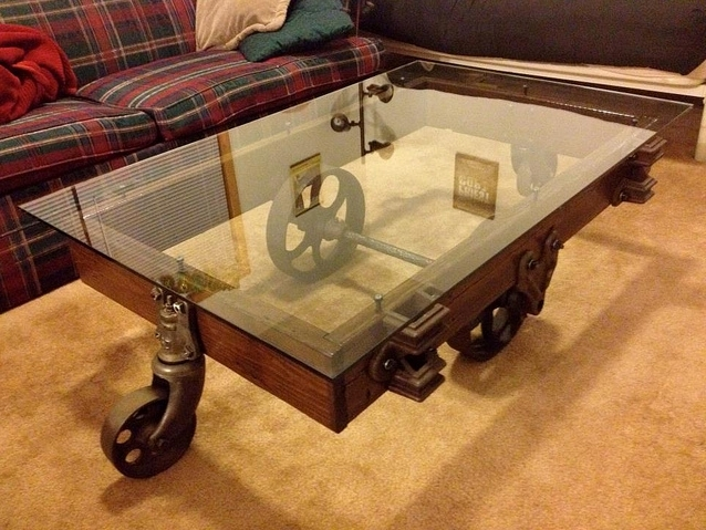 Fantastic Unique Vintage Glass Coffee Tables With Coffee Table Custom Glass Coffee Tables Reuse And Recycle (Image 22 of 50)
