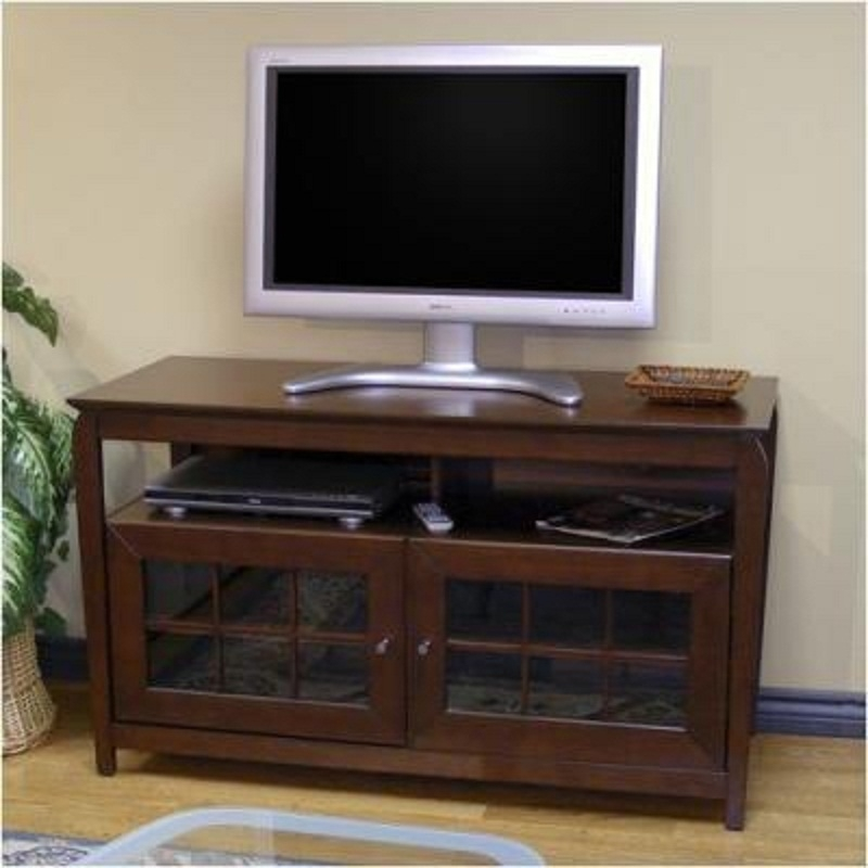 Fantastic Unique Walnut TV Stands For Flat Screens Throughout Tech Craft Veneto Series Windowpane Tv Cabinet For 32 48 Inch (Image 22 of 50)