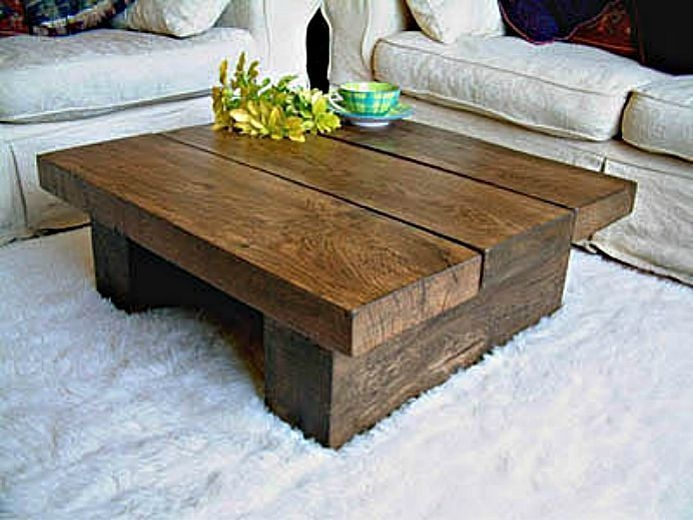 Fantastic Unique Wood Modern Coffee Tables Within Coach Leather Lexi Style F18829 Silvergraphite Wood Coffee (Image 19 of 50)