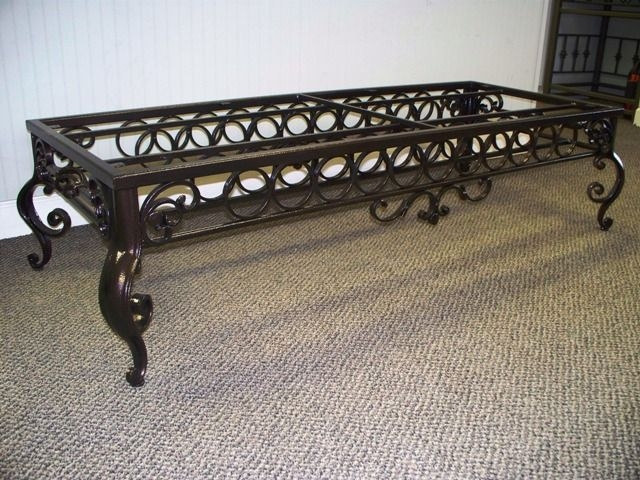 Fantastic Unique Wrought Iron Coffee Tables Throughout 246 Best Blacksmith Table Chair Support Images On Pinterest (Image 20 of 50)
