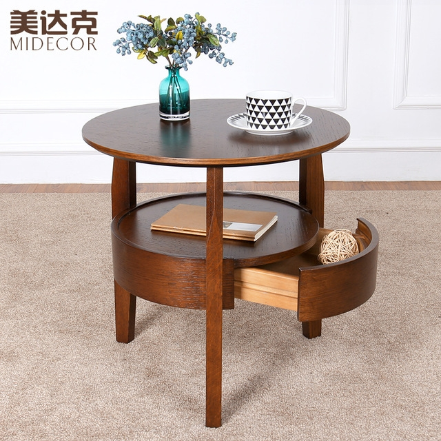 Fantastic Variety Of Coffee Table Rounded Corners Within Small Round Table Wooden Coffee Table Minimalist Living Room Sofa (Image 17 of 50)