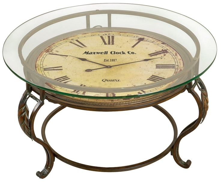 Fantastic Variety Of Coffee Tables With Clock Top In 82 Best Coffee Table Clock Images On Pinterest Clock Table (Image 19 of 40)