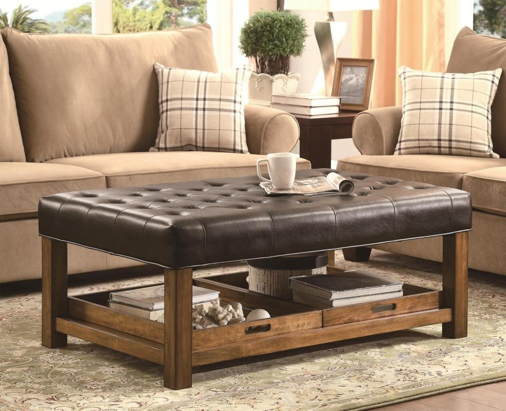 Fantastic Variety Of Coffee Tables With Seating And Storage Regarding Coffee Table Amazing Padded Coffee Table Ottomans Custom (Image 30 of 50)