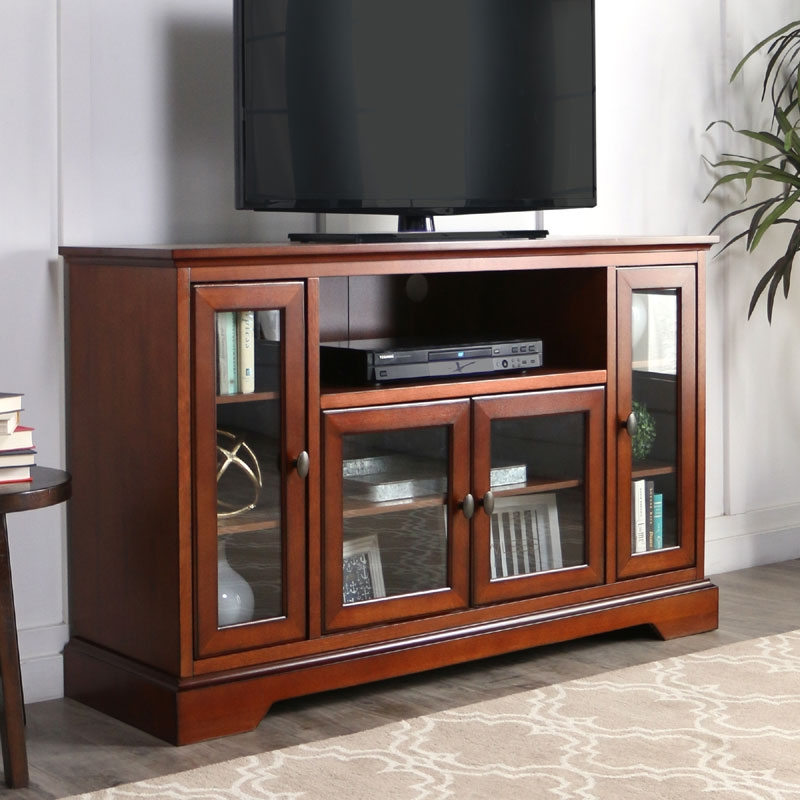Fantastic Variety Of Espresso TV Cabinets Pertaining To Walker Edison Antique Style Highboy 55 Inch Tv Cabinet Rustic (Image 19 of 50)