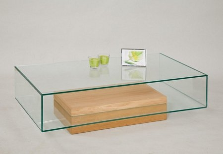 Fantastic Variety Of Glass Oak Coffee Tables Within Glass Coffee Table With Oak Base From Tannahill Furniture Ltd (Image 25 of 50)