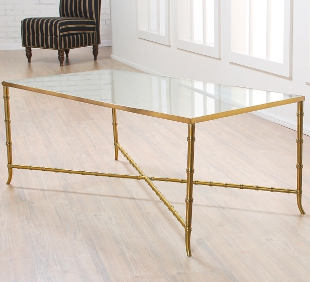 Fantastic Variety Of Gold Bamboo Coffee Tables With Regard To Gold Glass Coffee Table (View 3 of 50)