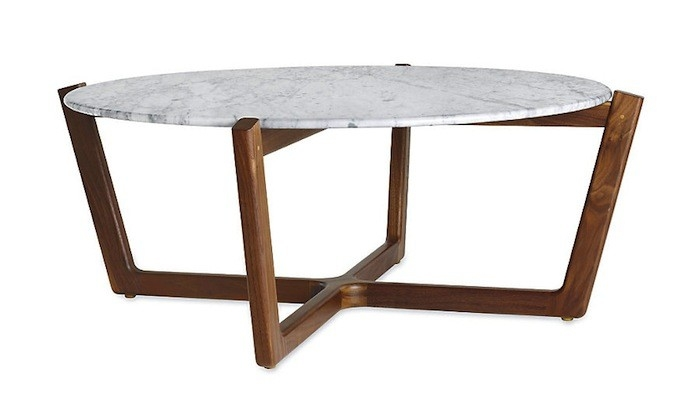 Fantastic Variety Of High Coffee Tables Pertaining To Highlow Marble Topped Coffee Tables Remodelista (Image 21 of 50)