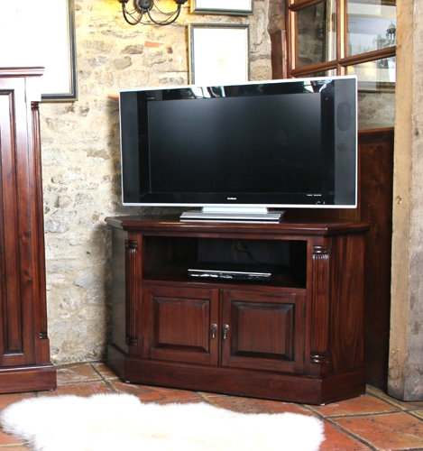 Fantastic Variety Of Mahogany Corner TV Cabinets With Mahogany Corner Tv Unit La Roque Range (Image 18 of 50)