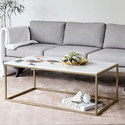 Fantastic Variety Of Marble Coffee Tables Regarding Indian Marble Coffee Table West Elm (View 3 of 50)
