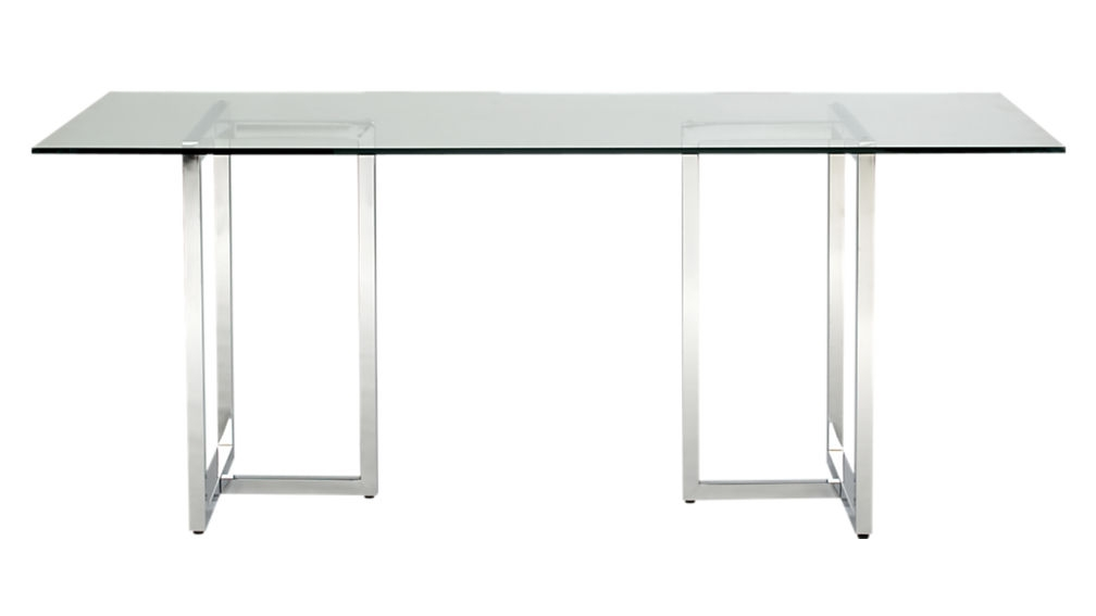 Fantastic Variety Of Rectangle Glass Chrome Coffee Tables For Silverado 72 Chrome Dining Table Cb (Image 21 of 50)
