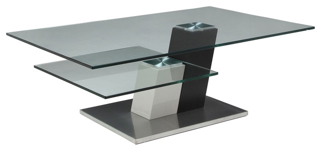 Fantastic Variety Of Rectangle Glass Coffee Table Throughout Pastel Kaffina Rectangular Glass Coffee Table In Stainless Steel (View 36 of 50)