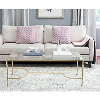 Fantastic Variety Of Safavieh Coffee Tables In Amazon Safavieh Home Collection Antwan Gold Coffee Table (Image 24 of 50)