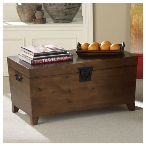 Fantastic Variety Of Trunk Coffee Tables  Inside Coffee Table Modern Wood Coffee Table Reclaimed Metal Mid (Image 25 of 50)
