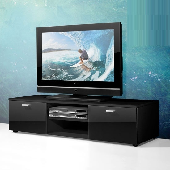 Fantastic Variety Of Ultra Modern TV Stands Pertaining To Contemporary Tv Stand For Flat Screen In White With Gloss (Image 16 of 50)