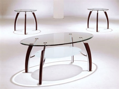 Fantastic Well Known 2 Piece Coffee Table Sets Throughout Martini Glass Top 3 Piece Coffeeend Table Set Acme (View 11 of 50)