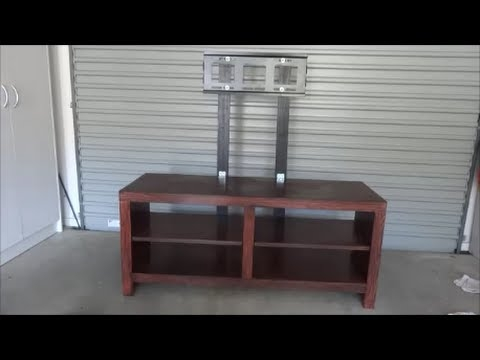 Fantastic Well Known Bracketed TV Stands With Regard To Do It Yourself Tv Mount On Entertainment Unit Youtube (Image 25 of 50)