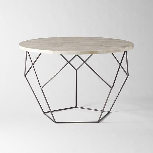 Fantastic Wellknown C Coffee Tables In Origami Coffee Table Medium West Elm (View 8 of 50)
