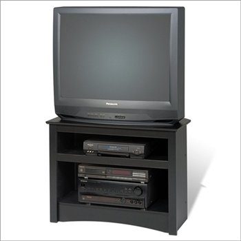 Fantastic Well Known Corner TV Stands Pertaining To Amazon Black 32 Corner Tv Stand For Flat Screen Or Crt Tvs (Image 19 of 50)