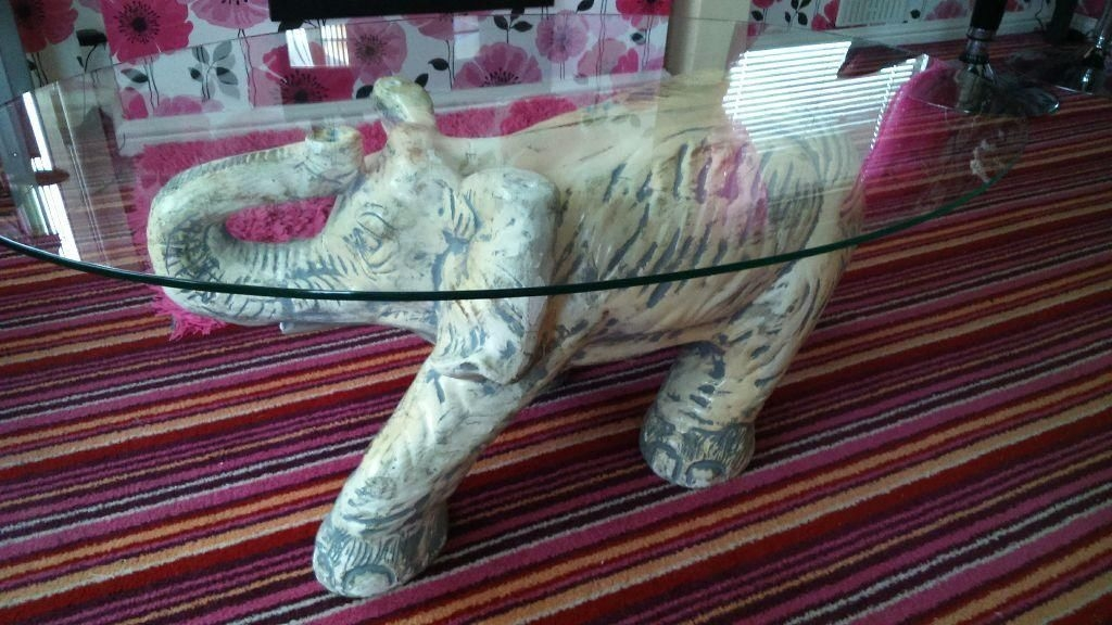 Fantastic Wellknown Elephant Coffee Tables With Glass Top For Elephant Glass Coffee Table (Image 19 of 40)