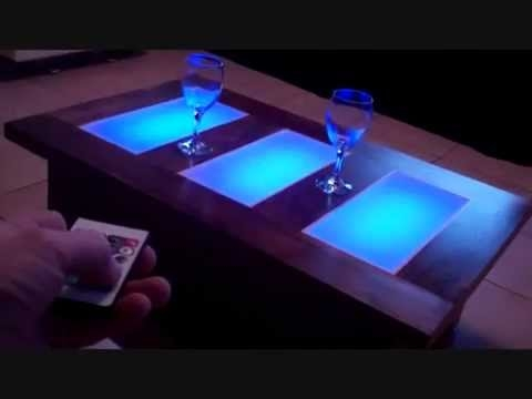 Fantastic Well Known Led Coffee Tables Within Coffee Table Led Lights Unusual Modern Furniture Youtube (Image 25 of 50)