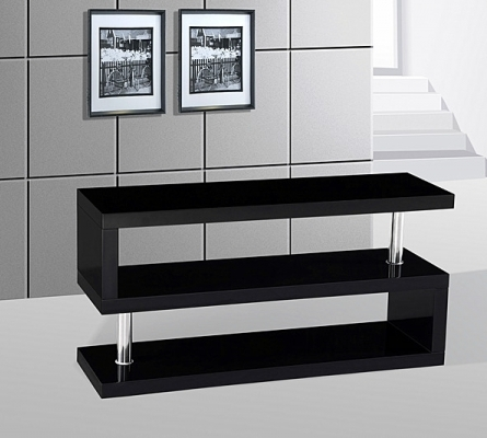 Fantastic Well Known Modern Black TV Stands Within Miami High Gloss Modern Black Tv Stand Love4furniture (View 9 of 50)