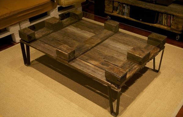 Fantastic Wellknown Reclaimed Wood And Glass Coffee Tables In Diy Glass Top Pallet Coffee Table 101 Pallets (View 15 of 50)