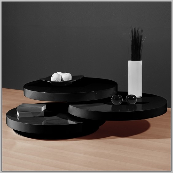 Fantastic Well Known Round High Gloss Coffee Tables Regarding Round High Gloss Black Coffee Table Coffee Table Home (View 30 of 50)