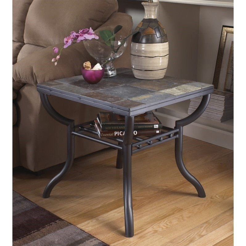Fantastic Well Known Round Slate Top Coffee Tables Intended For End Tables Side Tables Cymax (Image 15 of 40)