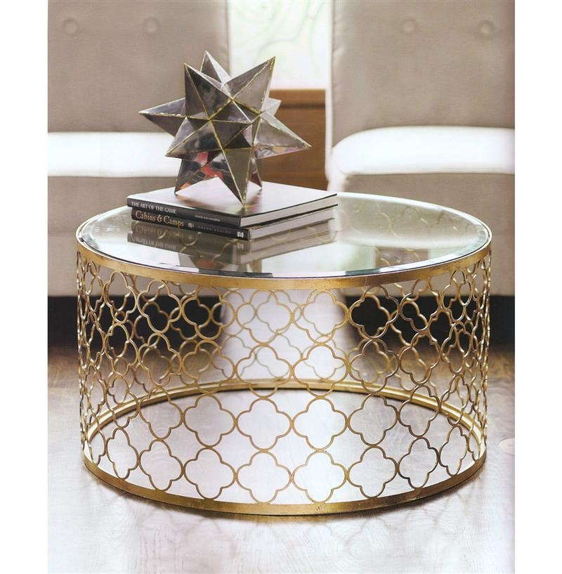 Fantastic Well Known Round Steel Coffee Tables Throughout Enchanting Round Gold Coffee Table Small Round Gold Coffee Table (Image 18 of 50)