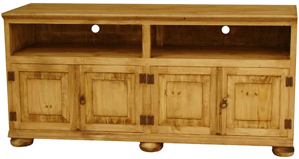 Fantastic Wellknown Rustic Pine TV Cabinets With Rustic Furniture Santana Mexican Rustic Pine Tv Stand W Bunn Feet (View 32 of 50)