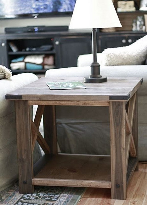 Fantastic Well Known Rustic Storage DIY Coffee Tables With 25 Diy Side Table Ideas With Lots Of Tutorials  (Image 22 of 50)
