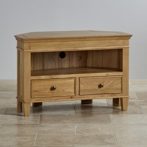 Fantastic Wellknown Solid Oak Corner TV Cabinets Pertaining To Tv Cabinets Units 100 Solid Hardwood Oak Furniture Land (Image 18 of 50)