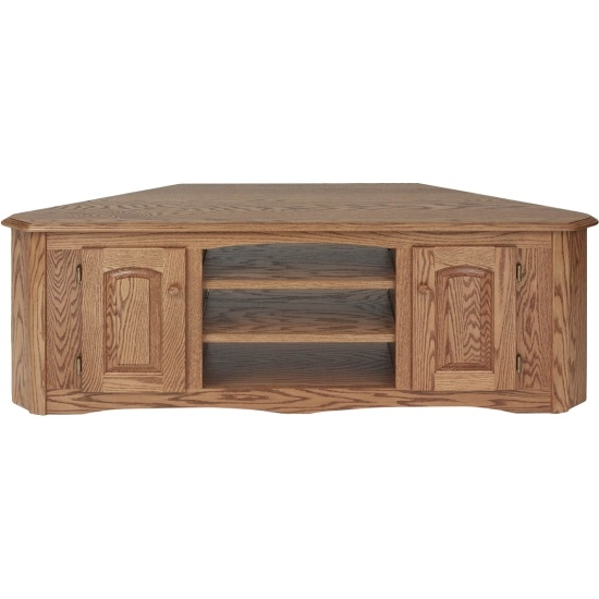 Fantastic Wellknown Solid Oak Corner TV Cabinets Within Country Style Solid Oak Corner Tv Stand Wcabinet 64 The Oak (Image 19 of 50)