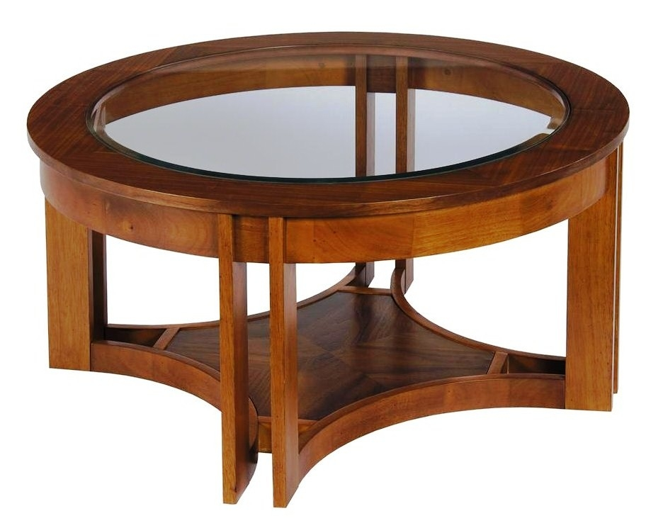 Fantastic Well Known Solid Round Coffee Tables Pertaining To Coffee Table Solid Wood Coffee Table With Glass Top Round Glass (Image 16 of 40)