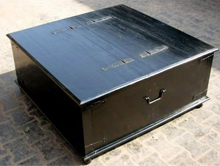 Fantastic Wellknown Square Black Coffee Tables Throughout Black Trunk Coffee Table (View 30 of 40)